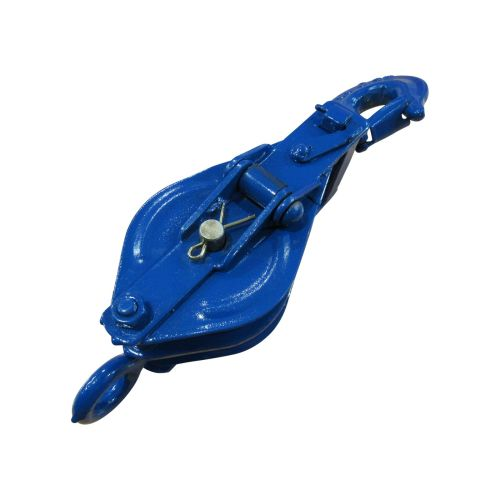 small resolution of 1 ton 100mm double sheave snatch block with swivel hook blue painted 10mm wire rope safety lifting